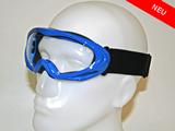 Crossbrille(Cross - Motor) Blau  – Spiegelglas Kinder